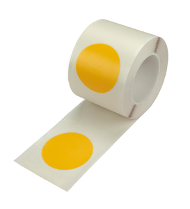 Lagerplatzkennzeichnung -WT-5226- Ronden, schmutzabweisend, für den Innenbereich, Rollenware (Maße Ø/Farbe: 50 mm /  <b>gelb</b> (Art.Nr.: 39403))