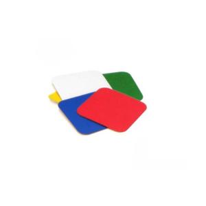 Lagerplatzkennzeichnung -WT-6011- Quadrate, aus Metall, für Innenbereich, Breite 75 mm (Farbe: rot (Art.Nr.: 31833))
