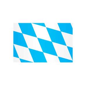 Landesflagge Bayern (Rauten ohne Wappen), Stoffqualität FlagTop 110 g / m² oder 160 g / m² (Maße (LxB)/Format/Konfektionierung/Stoffqualität:  <b>60 x 90 cm</b> (Querformat)<br>mit Seil und Schlaufe<br>FlagTop  <b>110 g/m²</b>