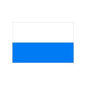 Landesflagge Bayern (weiß / blau ohne Wappen), Stoffqualität FlagTop 110 g / m² oder 160 g / m² (Maße (LxB)/Format/Konfektionierung/Stoffqualität:  <b>60 x 90 cm</b> (Querformat)<br>mit Seil und Schlaufe<br>FlagTop  <b>110 g/