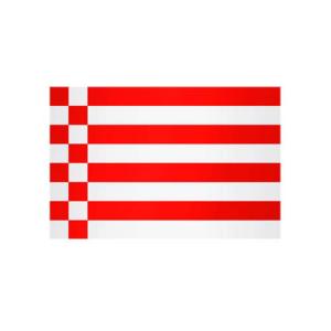 Landesflagge Bremen (ohne Wappen), Stoffqualität FlagTop 110 g / m² oder 160 g / m² (Maße (LxB)/Format/Konfektionierung/Stoffqualität:  <b>60 x 90 cm</b> (Querformat)<br>mit Seil und Schlaufe<br>FlagTop  <b>110 g/m²</b><br>f&u