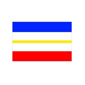 Landesflagge Mecklenburg Vorpommern (ohne Wappen), Stoffqualität FlagTop 110 g / m² oder 160 g / m² (Maße (LxB)/Format/Konfektionierung/Stoffqualität:  <b>60 x 90 cm</b> (Querformat)<br>mit Seil und Schlaufe<br>FlagTop  <b>110 g/m&
