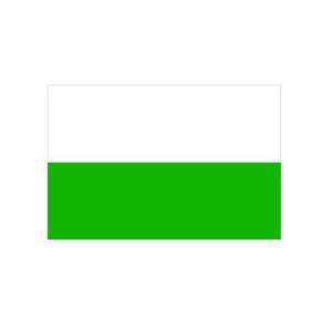 Landesflagge Sachsen (ohne Wappen), Stoffqualität FlagTop 110 g / m² oder 160 g / m² (Maße (LxB)/Format/Konfektionierung/Stoffqualität:  <b>60 x 90 cm</b> (Querformat)<br>mit Seil und Schlaufe<br>FlagTop  <b>110 g/m²</b><br>f&
