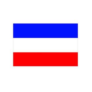 Landesflagge Schleswig-Holstein (ohne Wappen), Stoffqualität FlagTop 110 g / m² oder 160 g / m² (Maße (LxB)/Format/Konfektionierung/Stoffqualität:  <b>60 x 90 cm</b> (Querformat)<br>mit Seil und Schlaufe<br>FlagTop  <b>110 g/m²