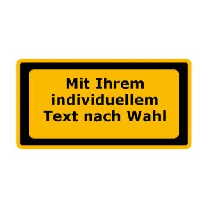 Laserkennzeichnung / Warnzusatzschild mit Wunschtext, VPE 5 Stk. (Maße (BxH)/Menge: 105 x 52 mm / VPE 5 Stk. (Art.Nr.: 21.9917))