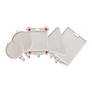 Leerschilder -Blanko- aus Kunststoff, aufschraubbar, diverse Formen (Modell/Maße Schriftfeld:  <b>Dreieck</b>/SL 440 mm (Art.Nr.: 10078))