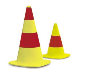 Leitkegel aus Kautschuk gelb / rot (Modell/Höhe/Gewichtsklasse:  <b>Little</b> 330mm/Gewichtsklasse 3 (Art.Nr.: 19803))