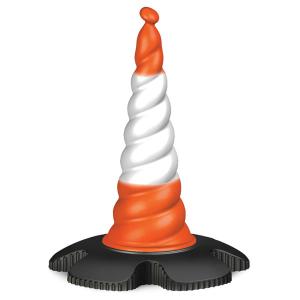 Leitkegel aus Kunststoff für Absperrsystem -Skipper-, Höhe 750 mm, orange-weiß (Ausführung: Leitkegel aus Kunststoff für Absperrsystem -Skipper-, Höhe 750 mm, orange-weiß (Art.Nr.: 90.9400))