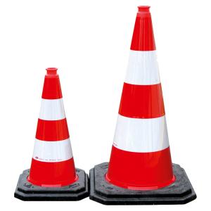 Leitkegel aus PE, BASt-geprüft nach TL-Leitkegel, 500 oder 750 mm, rot-weiß, vollreflektierend (Höhe/Folientyp/Gewicht/BASt-Prüfzeugnis: 500 mm /  <b>RA2</b> / 2,5 kg<br>BASt-Prüf-Nr.: V4-195-18 (Art.Nr.: 3l530tl2))