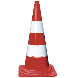 Leitkegel aus PVC, BASt-geprüft nach TL-Leitkegel, 750 mm, rot-weiß, vollreflektierend (BASt-Prüfzeugnis/Gewicht/Gewichtsklasse: BASt-Prüf-Nr.: V4-01/2014<br>4,5 kg <b> / Gewichtsklasse 2</b> (Art.Nr.: 37913))