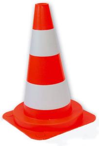 Leitkegel aus PVC, Höhe 750 mm, rot-weiß, teilreflektierend (Ausführung: Leitkegel aus PVC, Höhe 750 mm, rot-weiß, teilreflektierend (Art.Nr.: 12369))