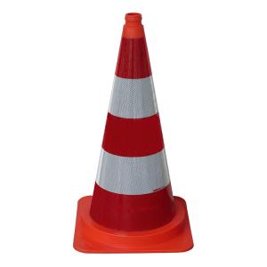 Leitkegel aus PVC, Höhe 750 mm, rot-weiß, vollreflektierend (Ausführung: Leitkegel aus PVC, Höhe 750 mm, rot-weiß, vollreflektierend (Art.Nr.: 3l750p))