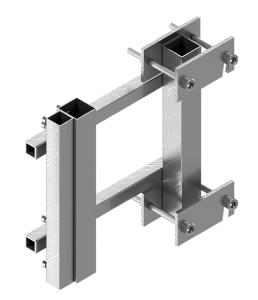 Leitplankenhalterung Typ 3 nach TL aus Stahl mit seitlichem Ausleger (Ausführung: Leitplankenhalterung Typ 3 nach TL aus Stahl mit seitlichem Ausleger (Art.Nr.: 37073))