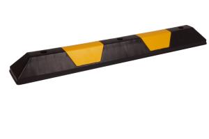 Leitschwelle -Parkway Medi-, Länge 1090 mm, Höhe 100 mm, gelb / schwarz oder schwarz / gelb (Farbe: schwarz mit 2 gelben Einlegern (Art.Nr.: 36411))