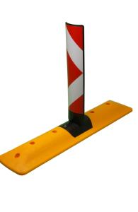 Leitschwelle -Signed- aus Kunststoff, Länge 1000 mm, mit Sichtzeichen (Ausführung: Leitschwelle -Signed- aus Kunststoff, Länge 1000 mm, mit Sichtzeichen (Art.Nr.: 36408))