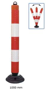 Leitzylinder -Cone- Ø 100 mm, anfahrbar, vollreflektierend, Höhe 1050 mm, mit Kettenaufnahme (Ausführung: Leitzylinder -Cone- Ø 100 mm, anfahrbar, vollreflektierend, Höhe 1050 mm, mit Kettenaufnahme (Art.Nr.: 33448))