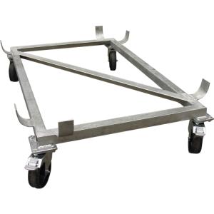 Lenkrollengestell für Rechteck- und Streugutbehälter -CEMO- (Für Behältergröße:  <b>100 L</b><br>LR Ø 100mm (Art.Nr.: 14060))