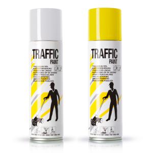 Linien-Markierfarbe -Traffic-, 500 ml, gelb und weiß, langfristig und schnelltrocknend