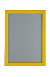 Magnet-Klapprahmen, verschiedene Größen, Rahmenbreite 20 mm (Außenmaß (B x H)/Poster-Format/Rahmenfarbe: 250x337mm/DIN A4<br> <b>gelb RAL 1003</b> (Art.Nr.: 32603))