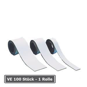 Magnetfolie -Permaflex- zur Regalbeschriftung, VE 100 Stück oder Rollenlänge 15 Meter (Maße (BxH)/Verpackungseinheit: 70 x 20 mm/VE 100 Stk. (Art.Nr.: 90.3071))