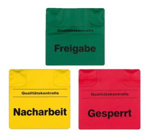 Magnetische Kennzeichnungspads, beidseitig bedruckt (Text/Farbe: Freigabe / grün (Art.Nr.: kn3000))