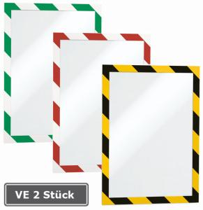Magnetrahmen -Duraframe-, VE 2 Stück, selbstklebend, zweifarbig, Format DIN A4 (Farbe: gelb/schwarz (Art.Nr.: di4130))