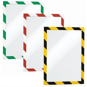 Magnetrahmen -Duraframe-, magnetisch, zweifarbig, Format DIN A4, VPE 5 Stk. (Farbe/Menge: gelb/schwarz / VPE 5 Stk. (Art.Nr.: di5130))