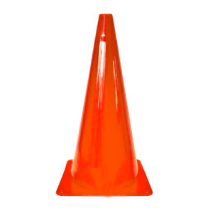 Markierungskegel -Dribble-, PVC, Höhe 370 mm, orange, VPE 10 Stk. (Ausführung: Markierungskegel -Dribble-, PVC, Höhe 370 mm, orange, VPE 10 Stk. (Art.Nr.: 32227))