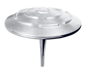 Markierungsnagel aus Aluminium, Ø 100 mm, rund (Befestigung: mit Schaft zum Einsetzen<br>in Schwarz- oder Betondecke (Art.Nr.: 39129))