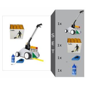 Markierwagen -Perfekt Striper- Komplett-Set, inkl. Farbe -Traffic-, schnelltrocknend