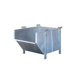 Material-Behälter -Typ BBM 500-, aus glattem Stahlblech (Farbe: RAL 2000 gelborange (Art.Nr.: 38807))