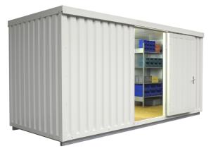 Materialcontainer -STIC 1500- mit Isolierung, ca. 10 m², wahlweise Holzfuß- oder isolierter Boden (Boden/Außenmaße (BxTxH)/Gewicht:  <b>mit Holzfußboden</b><br>5080 x 2170 x 2470 mm<br>Leergewicht 850 kg (Art.Nr.: 31931))