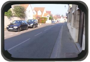 Mehrzweckspiegel Visiom®, für 2 Blickrichtungen, eckig, mit schwarzem Rahmen (Maße (BxH)/Material/Max. Beobachterabstand/Gewicht:  <b>600 x 400mm</b> / Polymir®<br>ca. 9 m / 9 kg /  <b>3 Jahre Garantie</b><br>auf die Funktion (Spiegelglas