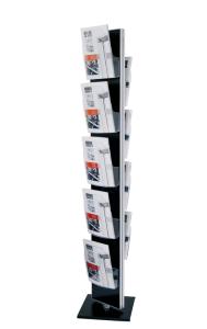 Mobiler Infoständer -DACAPO TWIST-, drehbar (Modell: Paneel und Basis schwarz (Art.Nr.: 36881))