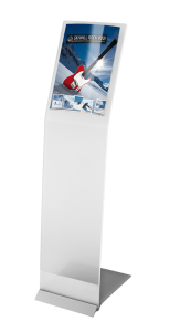Mobiler Infoständer -PRESSTISSIMO WING- in Frostoptik, inkl. Fotohalter -Pixquick- DIN A4 (Ausführung: Mobiler Infoständer -PRESSTISSIMO WING- in Frostoptik, inkl. Fotohalter -Pixquick- DIN A4 (Art.Nr.: 36853))