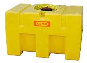 Mobiles Bewässerungssystem -CEMO BWS 30-PE- aus Polyethylen, 450 oder 600 Liter, mit Tauchpumpe (Volumen/Maße (LxBxH):  <b>450 Liter</b><br>1160x760x730mm (Art.Nr.: 37011))