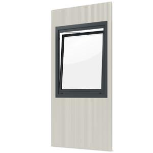 Modulares Raumsystem -Master-, Paneel mit Dreh- / Kippfenster (Anschlag: DIN-rechts (Art.Nr.: 36837))