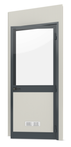 Modulares Raumsystem -Master-, Paneel mit Glastür (Anschlag: DIN-rechts (Art.Nr.: 36843))