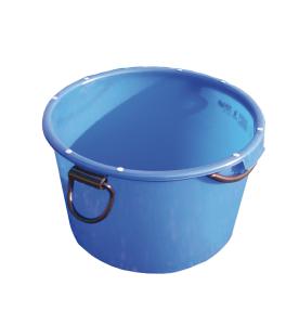 Mörtel-Kübel -Blau- 90 L aus Spezialkunststoff, mit umlaufendem Rahmen und Kranösen, GS-geprüft (Ausführung: Mörtel-Kübel -Blau- 90 L aus Spezialkunststoff, mit umlaufendem Rahmen und Kranösen, GS-geprüft (Art.