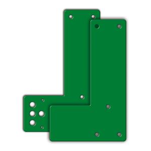 Montageplatten für Türwächter Standard, Schwenkbedienung, für Glasrahmentüren (Modell/Farbe: kurze/normale Türschilder (17,5cm)<br>und Rosetten/ <b>grün</b> (Art.Nr.: 29147))