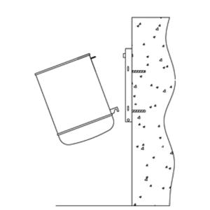 Montagesatz Typ 1, für Abfallbehälter und Ascher zur Wandbefestigung (Ausführung: Montagesatz Typ 1, für Abfallbehälter und Ascher zur Wandbefestigung (Art.Nr.: 10306))