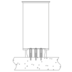 Montagesatz Typ 3, für Abfallbehälter zur Bodenbefestigung (Ausführung: Montagesatz Typ 3, für Abfallbehälter zur Bodenbefestigung (Art.Nr.: 10308))