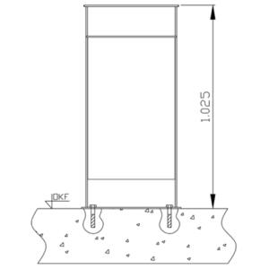Montagesatz Typ 7, für Abfallsammler zur Bodenbefestigung (Ausführung: Montagesatz Typ 7, für Abfallsammler zur Bodenbefestigung (Art.Nr.: 10312))