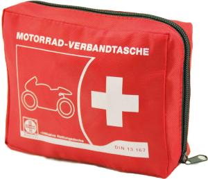 Motorrad-Verbandtasche aus Nylon, Inhalt nach DIN 13 167:2014, 150 x 120 x 50 mm (Ausführung: Motorrad-Verbandtasche aus Nylon, Inhalt nach DIN 13 167:2014, 150 x 120 x 50 mm (Art.Nr.: 33250))