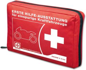 Motorrad-Verbandtasche aus Nylon, Inhalt nach ÖNORM V 5100, 150 x 120 x 45 mm (Ausführung: Motorrad-Verbandtasche aus Nylon, Inhalt nach ÖNORM V 5100, 150 x 120 x 45 mm (Art.Nr.: 33254))