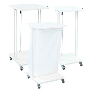 Müllsackständer -Health Boy-, fahrbar, 40, 60 oder 120 Liter, extrem stabil, mit Deckel (Volumen/Maße (HxBxT):  <b>40 Liter</b>/600x390x370mm (Art.Nr.: 28190))