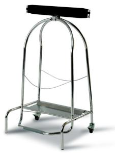 Müllsackständer -Pro 5-, 110 Liter aus Edelstahl, fahrbar, mit Pedal (Maße (HxBxT): 940 x 550 x 425 mm (Art.Nr.: 35637))