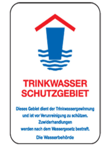 Natur- und Umweltschutzschild -Trinkwasser Schutzgebiet- (Maße/Folie: 420x315mm/nicht reflektierend (Art.Nr.: uw090006220))