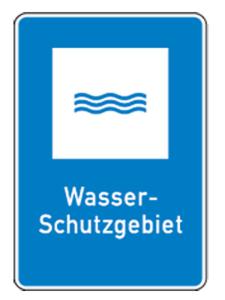 Natur- und Umweltschutzschild -Wasser-Schutzgebiet- (Maße/Folie: 420x315mm/nicht reflektierend (Art.Nr.: uw080006220))
