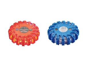 Notfallleuchte -Gloria LED-, Batteriebetrieb, Gehäuse rot / orange oder blau (Gehäusefarbe/LED-Farbe:  <b>blau</b>/gelbe LED  s (Art.Nr.: gl2002))